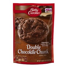 Betty Crocker Cookie Mix, Double Chocolate Chunk, 17.5-Ounce Pouches (Pack of 12)