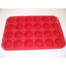 Cheff High Quality 24 Cup Muffin Bake Pan - Made Out Of 100% FDA & LFGB Approved Food Grade Silicon - Safe + Non-Stick + Durable + Flexible Silicon Cupcake Mold (24 Cup & 12 Cup)