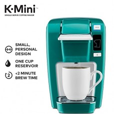 Keurig K15 Single Serve Compact K-Cup Pod Coffee Maker, Jade