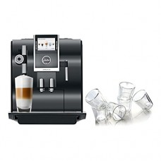 Jura Piano Black Impressa Z9 One Touch TFT Combination Espresso Machine with 6 Bodum Canteen Double Wall Glasses