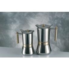 Vev-vigano Vespress Oro 6-espresso Cup Stainless Steel Stovetop Espresso Maker