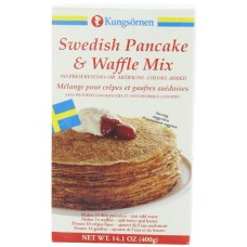Kungsornen Swedish Pancake & Waffle Mix, 14.1-Ounce Boxes (Pack of 6)