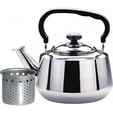 Tea Kettle-3 Liters Stovetop Kettle with Strainer, Heavy Gauge Stainless Steel Tea Pot with Shiny Mirror Polished
