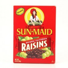 Sun Maid Natural California Raisins 4.5 Oz 100% Fruit No Sugar Added (5-pack)