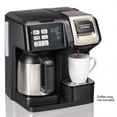Hamilton Beach (49966) Coffee Maker with Thermal Carafe, Single Serve & Full Coffee Pot,Compatible withK-Cup Packs or Ground Coffee, Programmable, Stainless Steel
