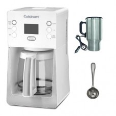 Cuisinart DCC-2800 DCC-2800W Perfect Temp 14-Cup Programmable Coffeemaker in White + Harold Import 726S Hic Coffee Measure + Accessory Kit