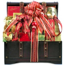 The Holiday VIP Deluxe Gourmet Food Gift Basket - Size Large - Includes Meat, Cheese, Crackers, Chocolate, Nuts, Caviar, Coffee, Cookies, Smoked Salmon and Much More