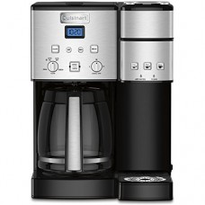 Cuisinart SS-15 12-Cup Coffee Maker and Single-Serve Brewer, Stainless Steel with Cuisinart FR-10 Tazzaccino Milk Frother