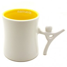 Ensemble Postures 12 oz Ceramic Coffee Mug (Namaste)