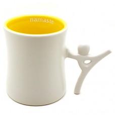 Ensemble Postures 12 oz Ceramic Coffee Mug (Namaste)