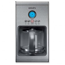 Krups Prelude Coffeemaker 10 Cup Stainless Steel Gold Filter 900 W