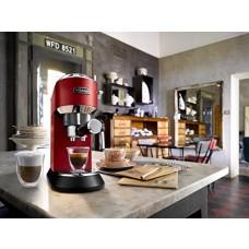 Delonghi EC685.R DEDICA 15-Bar Pump Espresso Machine Coffee Maker, Red, 220 Volts (Not for USA - European Cord)