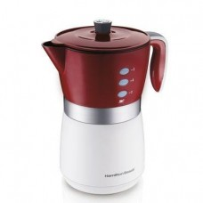 5 Cup Coffeemaker Red White