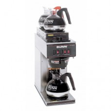 BUNN 13300.0004 VP17-3SS2U Pourover Commercial Coffee Brewer with One Lower and Two Upper Warmers, Stainless Steel