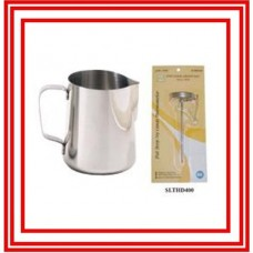 1 Pc Espresso Milk Frothing Pitcher 33 Oz & 1 Pc Thermometer NEW