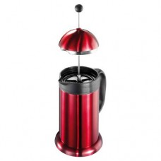 Double Wall 8-Cup /1000ML Insulated Stainless Steel French Coffee Press Coffee Plunger with Filter, Red