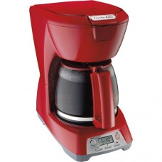 Programmable clock/timer 12-Cup Coffeemaker, Red Adjustable auto shut-off