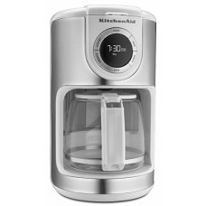 New Kitchenaid White 12 Cup Glass Carafe Digital Coffee Maker Kcm1202wh