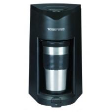 Toastess TFC-25T Silhouette 800-Watt Personal-Size Coffeemaker with Stainless-Steel Travel Mug