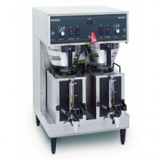 Dual Satellite S/S Double Coffee Brewer w/ 1.5 gal Portable Server