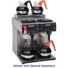 Bunn 12 Cup Automatic Coffee Brewer Maker 4 Warmers Cwtf 2/2 Twin