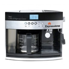 Espressione 3-in-1 Programmable Coffee and Espresso Maker, Silver