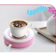 LOHOME(TM) USB Insulation Plate Dish Portable Thermostatic Cup Mug Warmer Mat Pad For Coffee Tea Beverage Drink Cans (Pink)