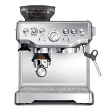 Breville BES870XL Barista Express Espresso Machine with Espresso Tamper, Frothing Pitcher & 2 Cup and Saucers