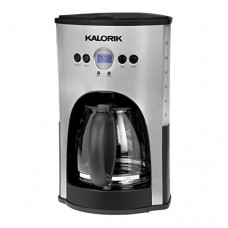 KALORIK Stainless Steel/Black 12-Cup Programmable Coffee Maker - KALORIK Model - CM-25282 SS - Set of 2 Gift Bundle