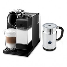 Delonghi Lattissima Plus Black Capsule Espresso and Cappuccino Machine with Bonus 40 Capsule Carousel