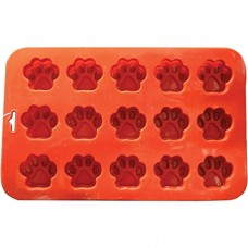 K9 Cakery Mini Paw Silicone Cake Pan, 9 by 5.5-Inch, 15-Cavity