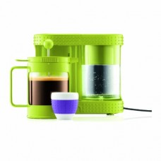 Bistro 4-Cup Electric French Press Coffeemaker, 0.5-Liter 17-Ounce, Green