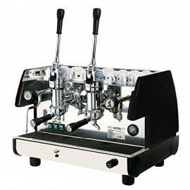 2 Groups & 2 Steam Wands Commercial Lever Espresso Machine (Black)