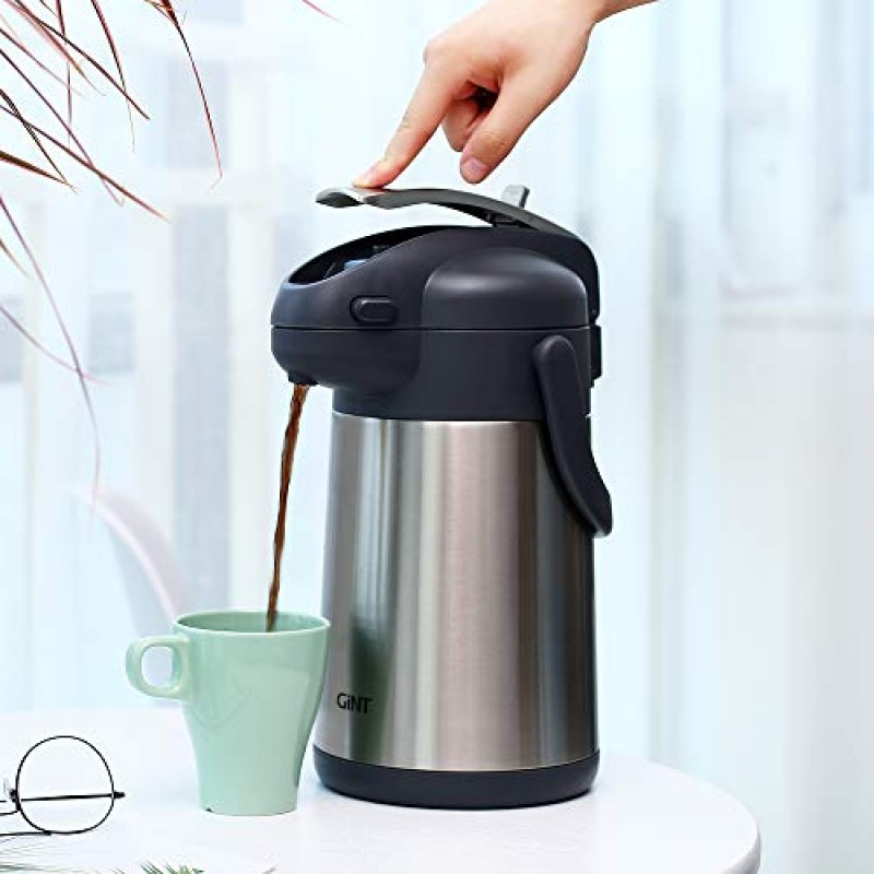 Gint Coffee Airpot Thermal Carafe Dispenser With Pump