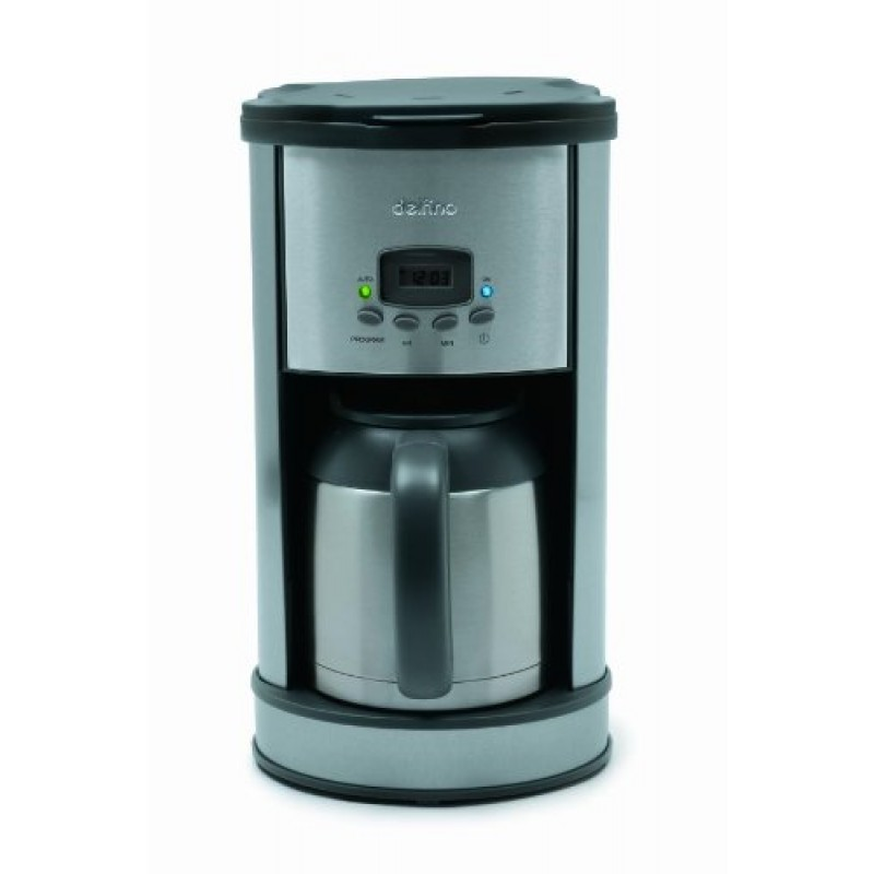 Programmable Coffee Maker Stainless Steel Carafe : Delfino DLFC700 8-Cup Thermal Carafe Programmable Coffee Maker, Stainless Steel - Cheap Coffee ...