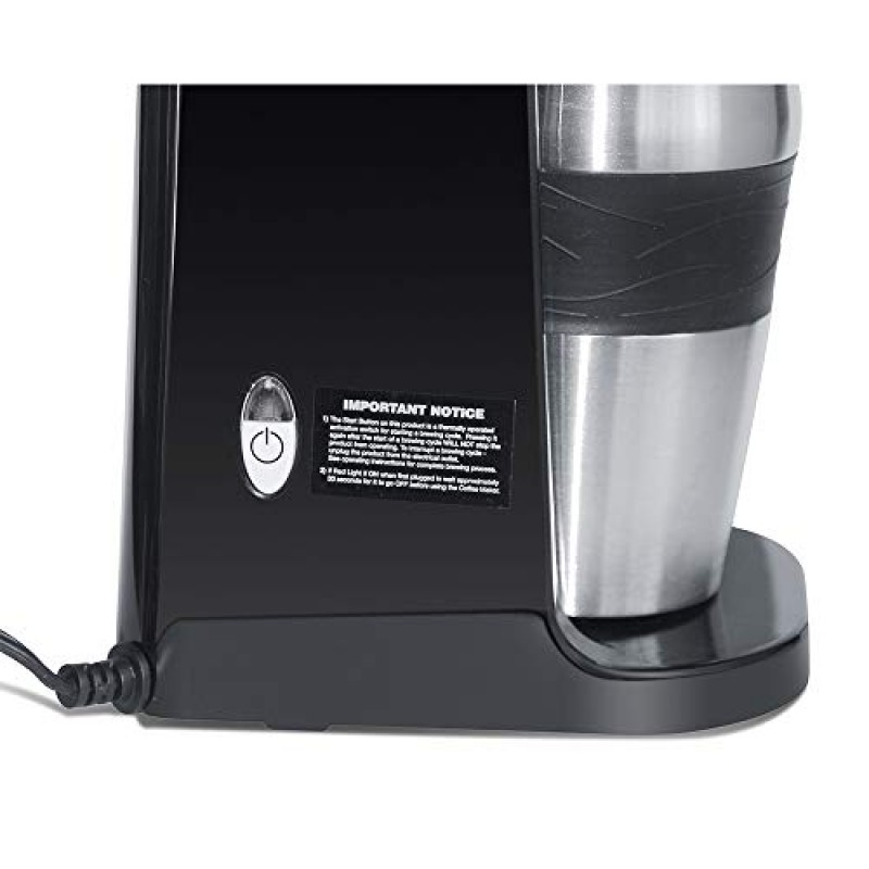 Ultimate 2-In-1 Single Cup Coffee Maker & 14oz Travel ...