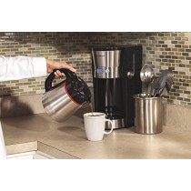 Hamilton Beach 46896A 10 Cup Coffee Maker with Vacuum Stainless Thermal Carafe, Black