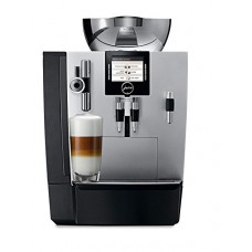 Jura 16367 IMPRESSA XJ9 Automatic Coffee Machine, Brilliant Silver with Jura 65381 Stainless-Steel 20-Ounce Milk Container with Lid