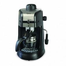 Capresso 304.01 Steam Pro 4-Cup Espresso & Cappuccino Machine + 3oz Ceramic Cup & Saucer + Espresso Tamper (50/55mm)