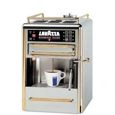Lavazza One-Cup Espresso Beverage System, Chrome/Gold Stainless Steel (LAV80114) Category: Coffee Makers and Urns