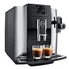 Jura 15097 Automatic Coffee Machine E8, Chrome with Automatic Milk Frother