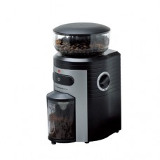 Espressione Professional Conical Burr Coffee Grinder, Black/Silver