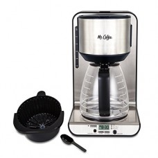 Mr. Coffee 12-Cup Programmable Coffeemaker, Stainless BVMC-FBX39