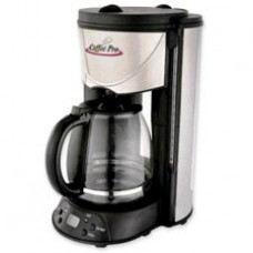 Coffeepro CP626T Coffeemaker, 12-Cup, 8 in.x11 in.x14 in., Stainless Steel/Black