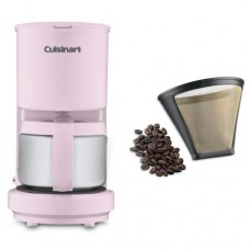 Cuisinart DCC-450PK 4-Cup Coffeemaker with Stainless Steel Carafe, Pink, and Filter Bundle