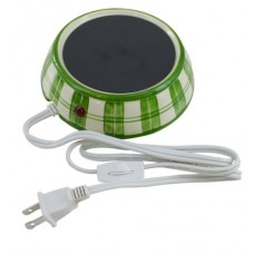 YT Electric 4-Inch Ceramic Candle Warmer - Green Plaid