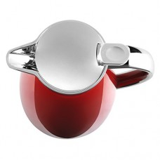 Emsa Campo Stainless Steel Thermal Carafe with Glass Liner, 34 oz, Red