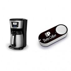 BLACK+DECKER 12-Cup Thermal Coffeemaker, Black/Silver, CM2035B & Peet's Coffee Dash Button
