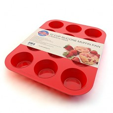 Silicone Muffin Pan and Cupcake Maker 12 Cup, 100% Pure Food Grade, Multi-purpose, with Recipe Ebook