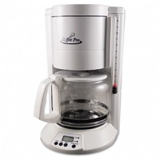 Home/Office 12-Cup Coffee Maker, White by OGF (Catalog Category: Office Maintenance, Janitorial & Lunchroom / Food & Beverage)